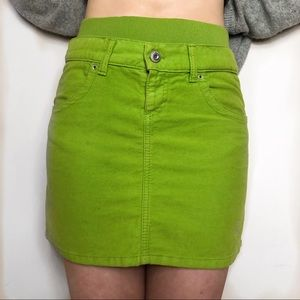 Green skirt 100% cotton by UCB